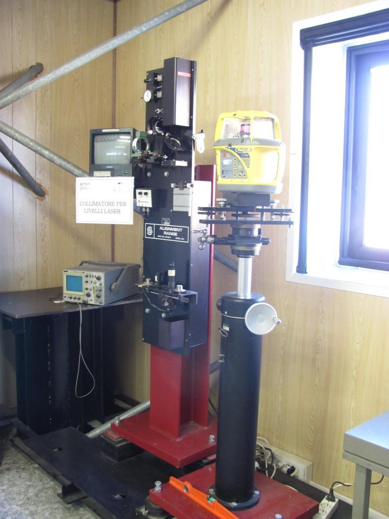 Collimatore verticale per laser