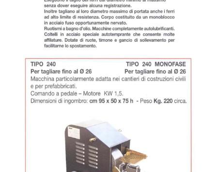 Cesoia elettrica Oscam Tipo 240